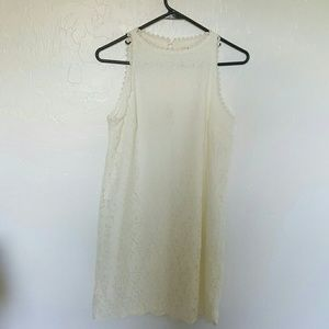 Anthropologie Monteau lace cream dress size S
